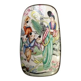 Vintage Chinese Porcelain Tin Box