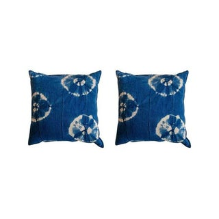 African Textile Pillows - A Pair
