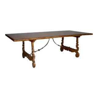 Walnut Lyre Leg Table