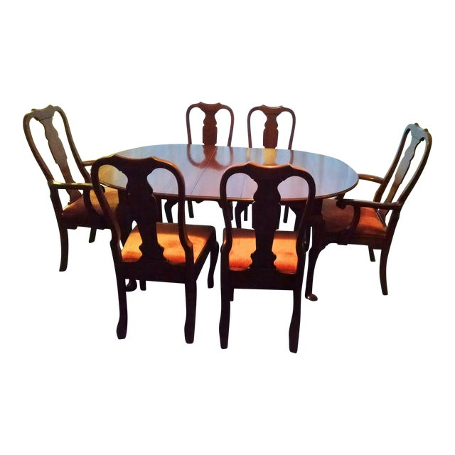 Pennsylvania House Solid Cherry Dining Table & Chairs - Set of 7 - Image 1 of 8