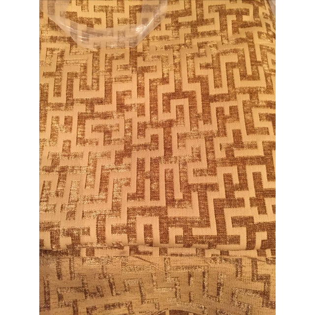 Rowland Jacquard Fabric in Flax - 9 1/2 Yards - Image 6 of 6
