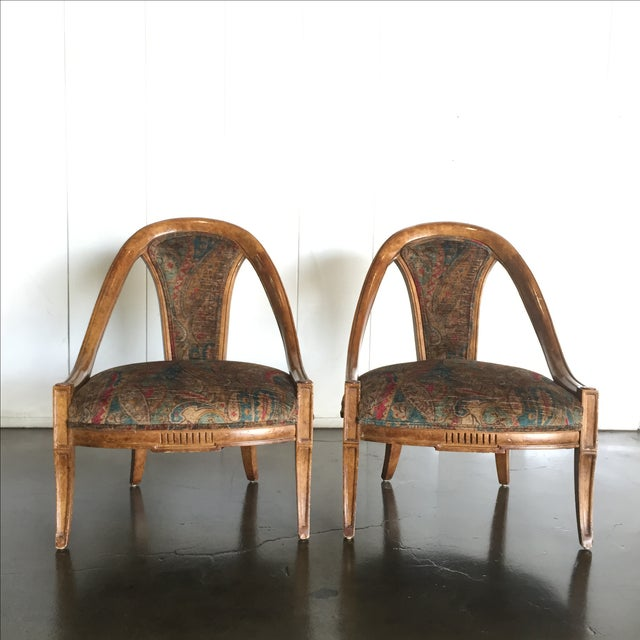Image of Vintage Bohemian Occasional Chairs - A Pair