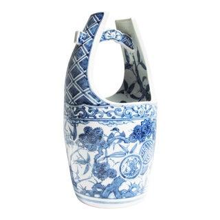 Vintage Delft Blue 'Milk Pail' Vase