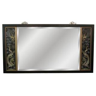 Asian Triptych Silk Panel Mirror