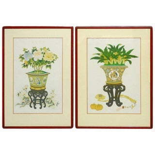 Pair of Chinese Flora and Foliate Still Life Prints