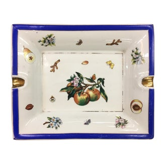 Blue & White Floral Ashtray Dish