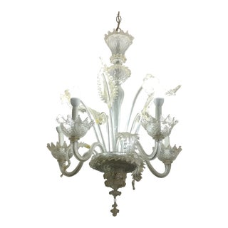 Murano Glass - Beautiful Vintage Venetian Chandelier w/ 5 candles