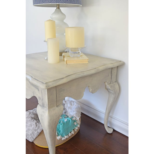 Image of Shabby Chic White Side Tables - A Pair