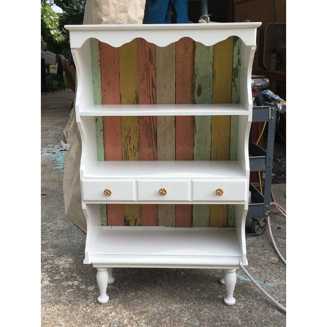 Farmhouse Shabby Chic White Cabinet - Image 2 of 3