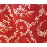 Image of Pierre Deux Red Toile Linen Fabric- 10 Yards