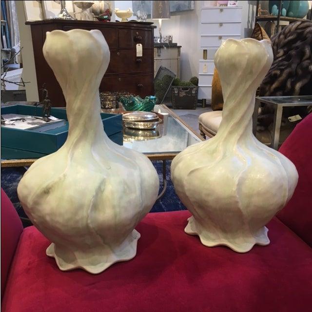 Artisan Porcelain Glazed Vase - Image 2 of 2