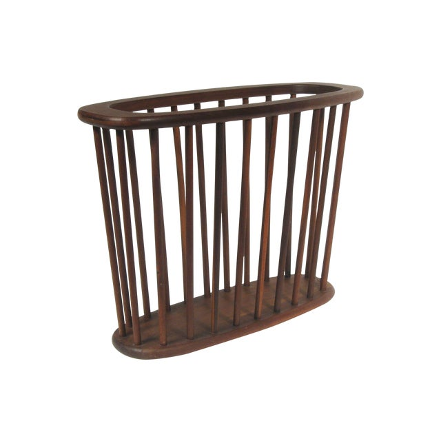 Mid Century Walnut Magazine Rack - Image 1 of 4
