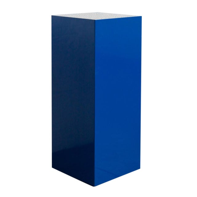 Image of J Magliaro Blue Steel Pedestal With Deco Top
