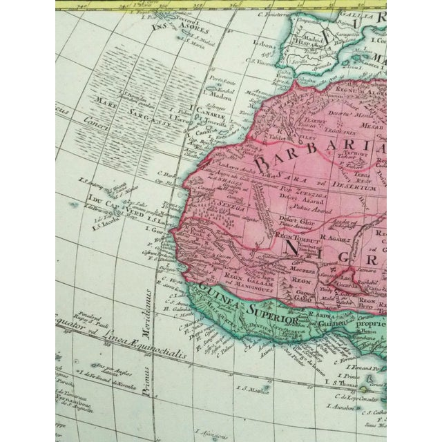 1778 Africa Map by Lotter - Image 6 of 10