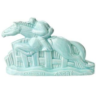 Vintage French Art Deco Majolica Horse Figurine