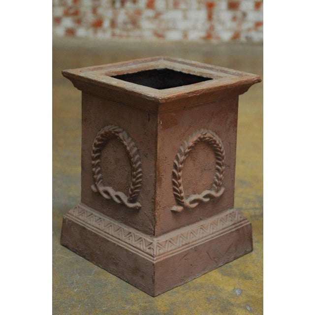 Neoclassical Cast Iron Pedestals or Urns - a Pair - Image 5 of 10