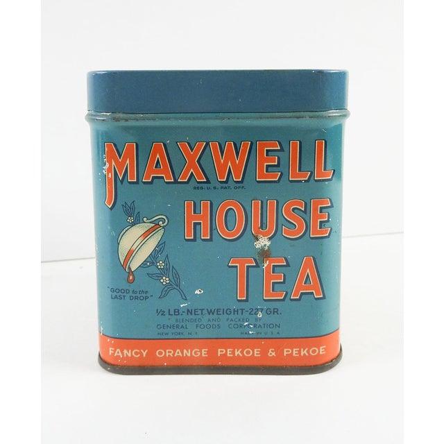 Vintage 1/2 Lb. Maxwell House Orange Pekoe Tea Tin - Image 2 of 8