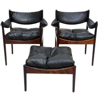 "Kristian Vedel ""Modus"" Chairs & Ottoman - Set of 3"