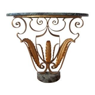 Pier Luigi Collie Bronze & Green Marble Console