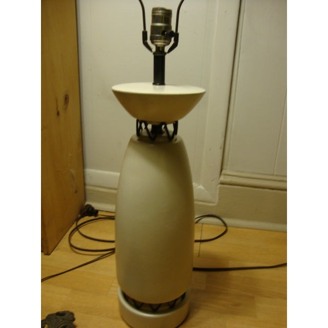 Rembrandt Style Matte White Pottery Lamp - Image 4 of 10
