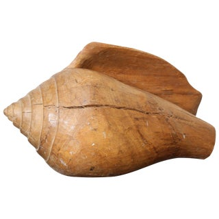 1960s Hand-Carved Wooden Conch