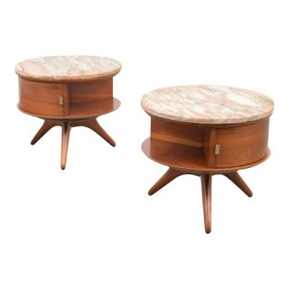 Pair of Rare & Early Vladimir Kagan #3421 Nightstands/End Tables