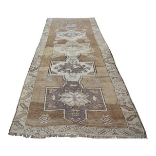 Antique Turkish Long Runner Oushak Rug - 4′8″ × 11′10″