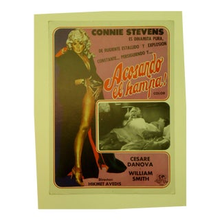 Vintage Spanish Movie Poster, Connie Stevens
