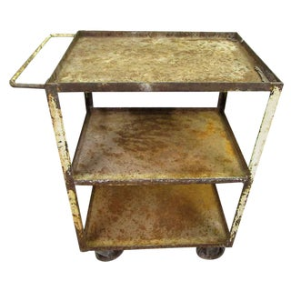 Industrial Rusted Metal Cart