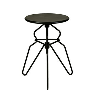 Black Matte Adjustable Iron Stool