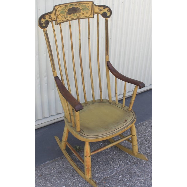 19th Century Fancy Original Painted Rocking Chair from New England - Image 2 of 10