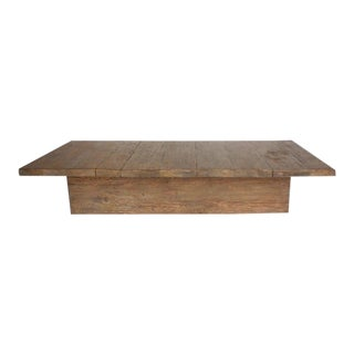 Custom Reclaimed Wood Rustic Modern Coffee Table
