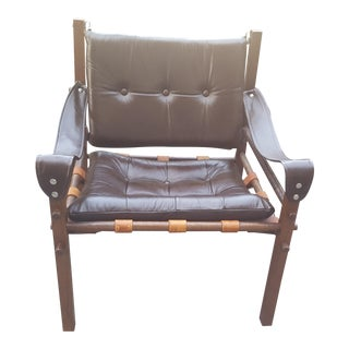 Mid-Century Modern Arne Norell Sirocco Rosewood & Leather Safari Chair