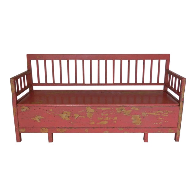19th Century Painted Swedish Bench/Daybed - Image 1 of 9
