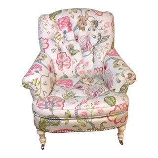 Lillian August Albert Tufted Floral Upholstered Chair