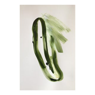 Green Ribbon Original Painting on Paper