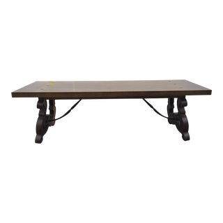 Vintage Drexel Wood & Iron Coffee Table