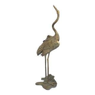 Monumental Contemporary Bronze Stork Sculpture Also Fitted as a Fountain