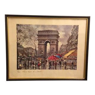 1940s Framed April in Paris Print