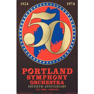 Robert Indiana Portland Symphony Orchestra 50th Anniversary 1974 Serigraph