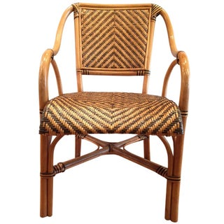 Safari Bent Wood Rattan Dining Chair