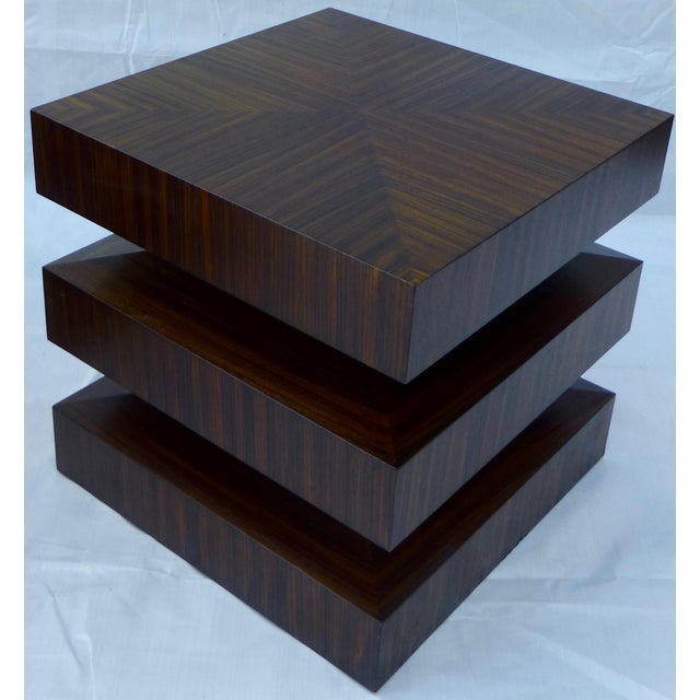 Danish Modern Cubist Stacked Rosewood End Tables- A Pair - Image 3 of 11