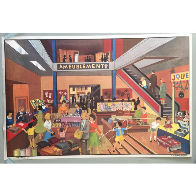 Image of French Vintage Department Store Poster