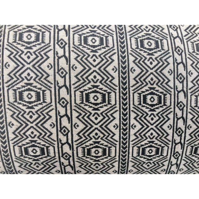 Black & White Tribal Textile Pillow - Image 2 of 4