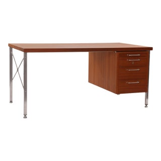 Hans Wegner Teak and Steel Executive Desk