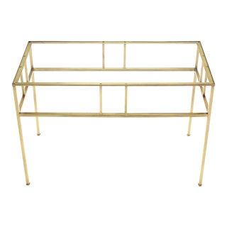Modern Solid Brass Rectangular Side Table