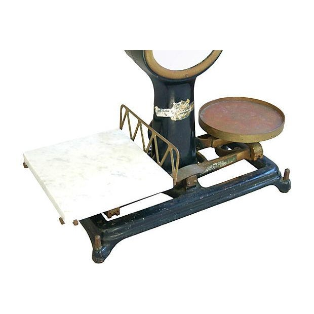 Antique Mercantile Balance Scale w/Marble Slab - Image 7 of 7