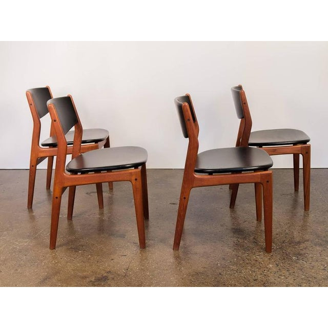 Four Scandinavian Teak Dining Chairs - Image 4 of 7