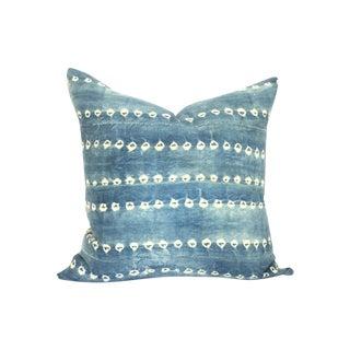 Vintage African Indigo Batik Loomed Pillow