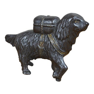 Cast Iron Rescue Dog Bank